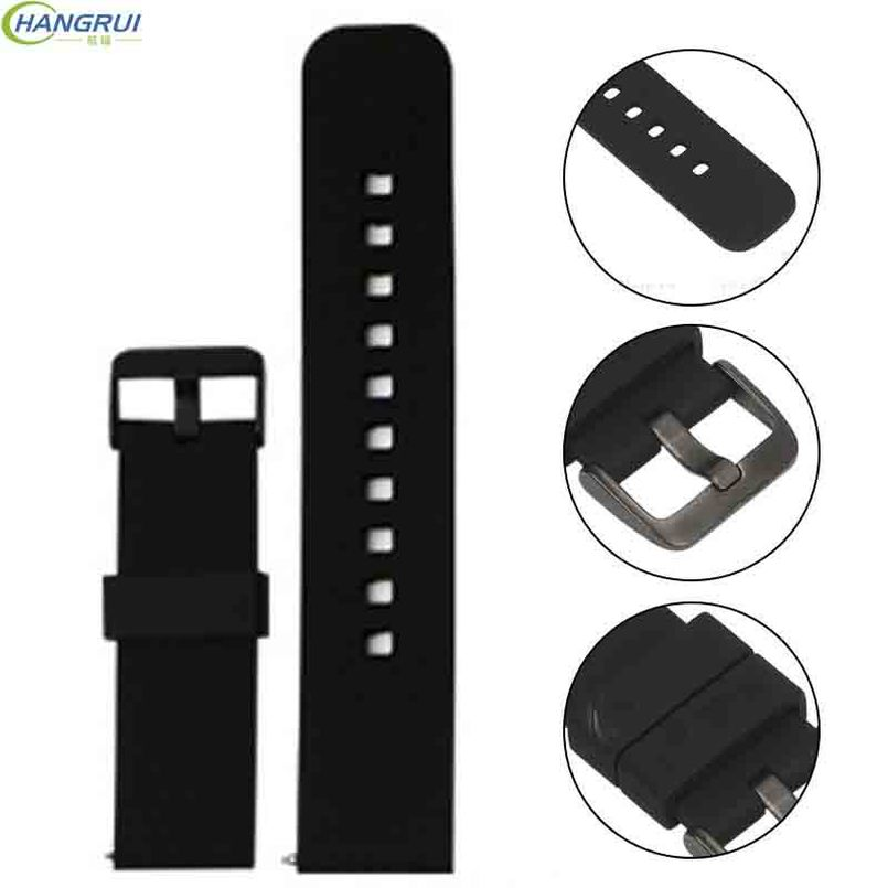 22mm Breathable Silicone Strap for Samsung Gear S3 Smart Watch accessory Band for Xiaomi Huami Amazfit 2 Stratos 2 Pace 1 strap