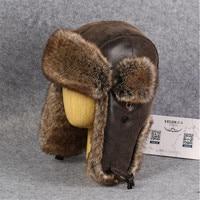 New Winter Hat Aviator Ear Flaps Bomber Cap Men Proof Trapper Hat Thick Warm Fur Hats For Men And Women Winter Hats For Men