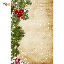 Yeele Christmas Photocall Decor Fade Wall Pine Snow Photography Backdrops Personalized Photographic Backgrounds For Photo Studio