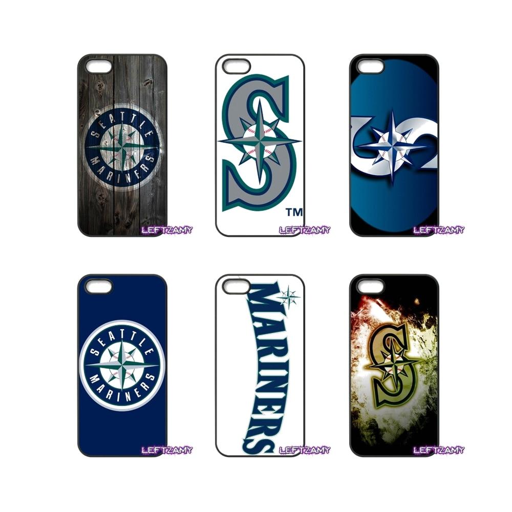 Сиэтл логотип Жесткий Чехол Для Телефона iPhone 4 4S 5 5C SE 6 6 S 7 8 плюс x 4.7 5.5 Ip ...