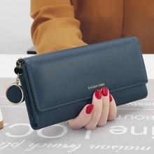 Купить с кэшбэком Fashion Women Wallets Long Style Multi-functional Wallet Purse Fresh PU Leather Female Clutch Card Holder Luxury Phone Wallet