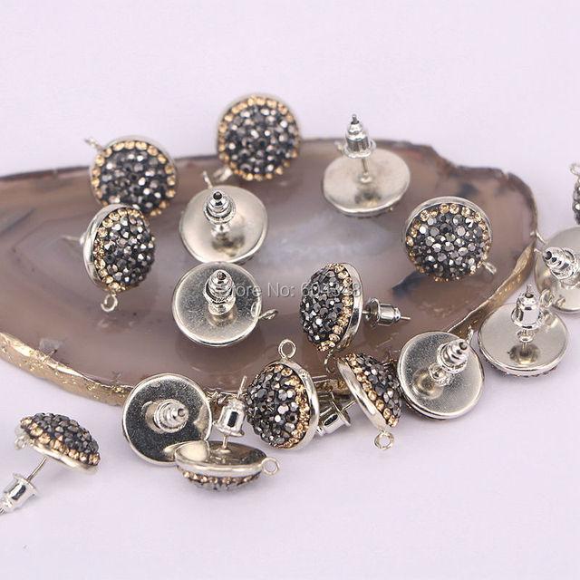20Pairs Zyunz 0396 Round Crystal Rhinestone Paved Stud Earring ... 8963bcef6577