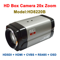 2.0 Megapixel 1080p 60fps 20x Zoom HDMI HDSDI CVBS Multi ports Box type Camera for School Church Court