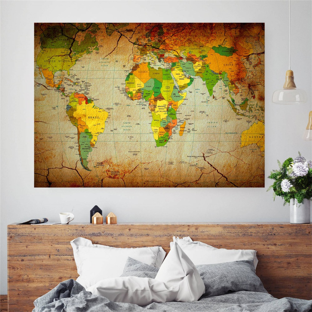 Fine Decorative Wall Maps Of The World Photo - Wall Art Collections ...