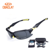 OBAOLAY 2017 Polarized Bicycle glasses men MTB Cycling UV400 Sunglasses Eyewear Women Sport Goggle glasses Los vidrios de ciclo