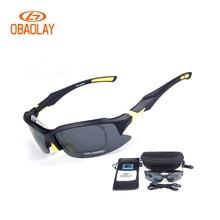 OBAOLAY 2017 Polarized Bicycle glasses men MTB Cycling UV400 Sunglasses Eyewear Women Sport Goggle glasses Los vidrios de ciclo