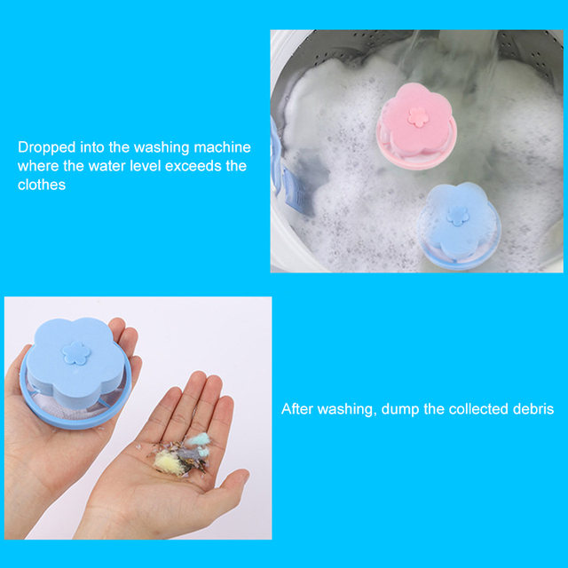 4 colors Hair Removal Catcher Filter Mesh Cleaning Balls Bag Washing Machine Filter Ball Pet Fur Catcher Laundry Accessories