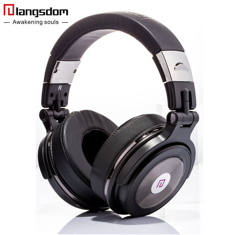 Langsdom BT28 Over-Ear Headphones Bluetooth 4.0 Wireless Headset Super Deep Bass HiFi Earphone Hands-Free for Smart Phones 2016 new metal bluetooth stereo super bass headphones 8600 bluetooth 4 0 high fidelity wireless over ear headset for smart phone