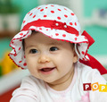 2015 Novas crianças Coreano meninas do bebê Da Princesa chapéu do bebê crianças hat caps atacado duplo Vaso chapéu panamá Frete Grátis