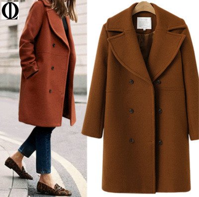 OL Autumn And Winter JACKET Wool Blends Autumn Winter Wool Blends Warm Fashion COATS 2019 Winter Women's Wool Blends