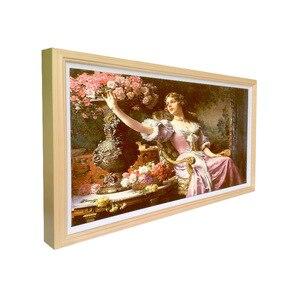 Image 2 - 32 дюймовый дисплей, цифровой рекламный плеер, настенный цифровой тотемный дисплей, деревянная цифровая фоторамка