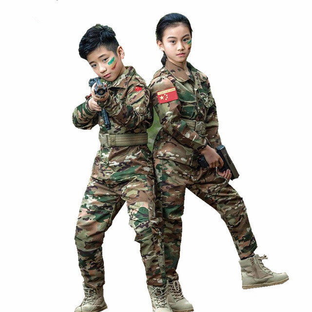 Boys cargo Army combat Shorts Camouflage design