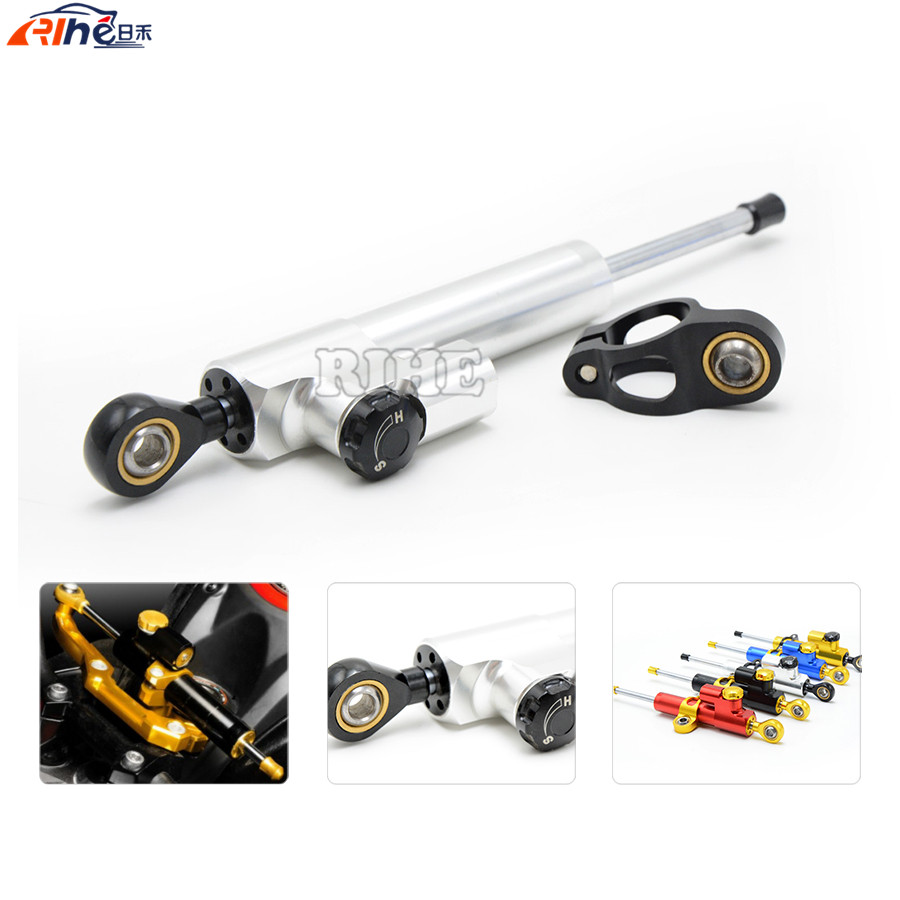 Steering Damper Universal Motorcycle CNC Stabilizer Linear Reversed Safety Control for Honda CBR600RR MSX125 Aprilia SR MAX 300 3 colors universal motorcycle steering damper black color cnc aluminum stabilizer linear reversed safety control motorcycle