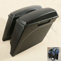 5 Extended Hard Saddlebags Trunk W Lids For Harley Touring Road King Electra