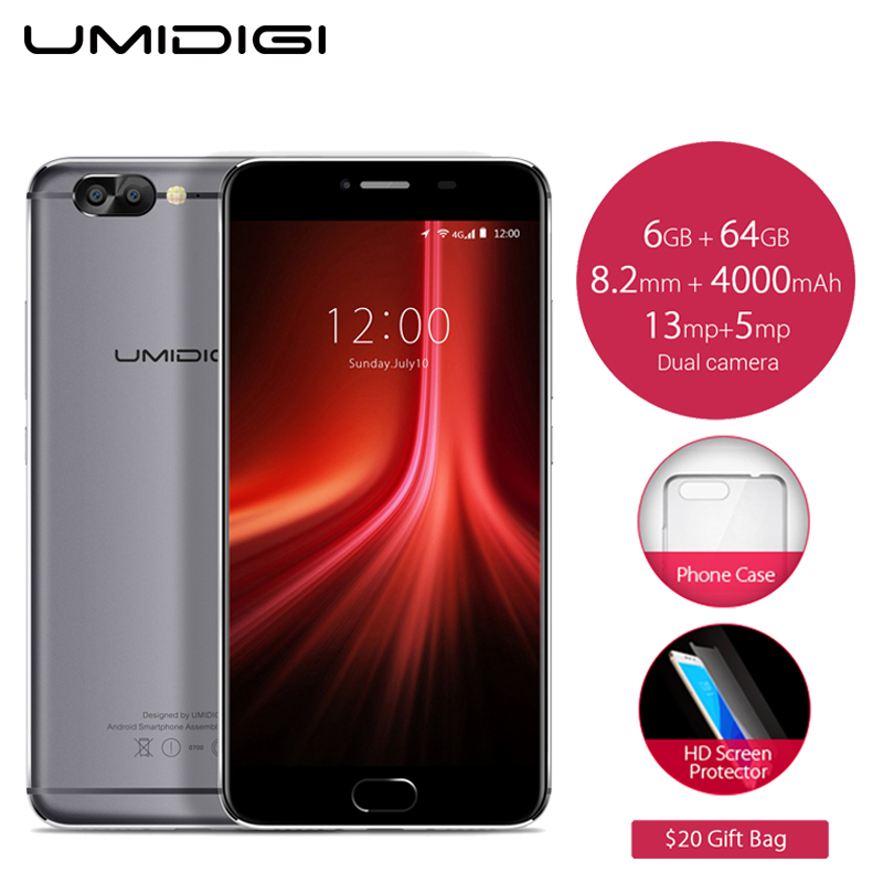 Original UMIDIGI Z1 Cell Phone 5.5 inch FHD Screen 6GB RAM 64GB ROM MTK6757 Octa Core 4000mAh Android 7.0 4G LTE Smartphone