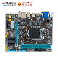 HUANAN ZHI H61 M ATX Motherboard H61 For Intel LGA 1155 Support i3 i5 i7 DDR3 1333/1600MHz 16GB SATA2.0 USB2.0 VGA HDMI