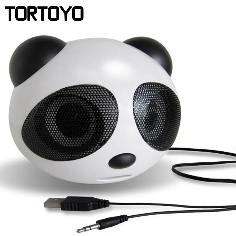 cute cartoon mini subwoofer stereo panda usb speaker pc computer speakers loudspeaker voice box. Black Bedroom Furniture Sets. Home Design Ideas