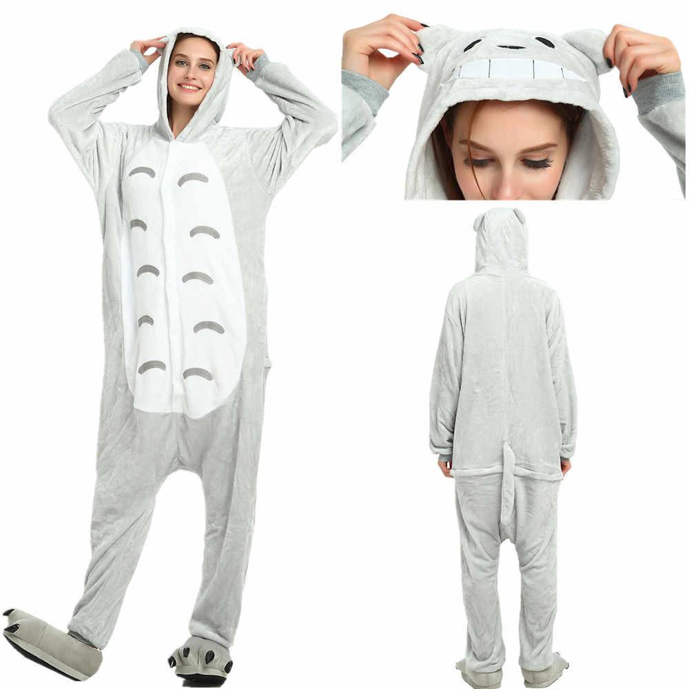 Unisex Pijama Totoro Animal Kigurumi Care Bear Onesie Pajamas Onepiece  Shark Onesie Kugurumi Winter Spiderman Leopard 8ad79398d