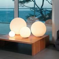Led Table Lamp for Bar Living Room Bedroom Home Decor Milk White Glass Round Ball Led Desk Light Kid's Night Lighting Lamps