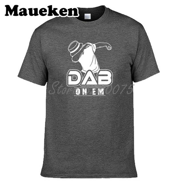 c3c537a7 US $18.88 |Men's Cam Newton 1 Dab On Em Logo Cool T Shirt Carolina MVP t  shirt Tees 100% cotton For Fans W0518006-in T-Shirts from Men's Clothing on  ...