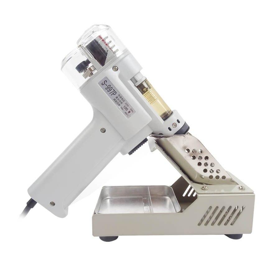 Dessoudage pompe à vide soudure ventouse pistolet S-997P aspiration électrique étain pistolet à souder ventouse pistolet à dessouder fer à souder