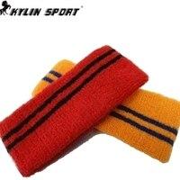 Kylin sport di alta qualità 100% cotone yoga sport della fascia dei capelli della fascia asciugamano assorbe il sudore traspirante ultra elastico asciugamano