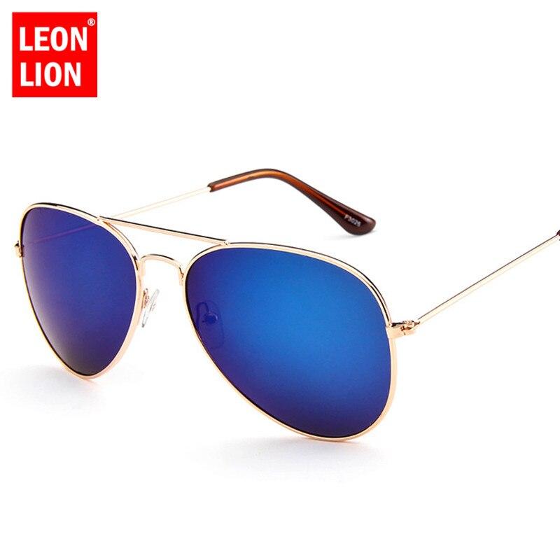 LeonLion 2018 Pilot Mirror Sunglasses Women Men Brand Designer Luxury Sun Glasses Women Vintage Outdoor Driving