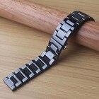 Керамические ремешки для часов браслет 14 15 16 17 18 19 20 21мм ремешок для часов черный ремешок на ★