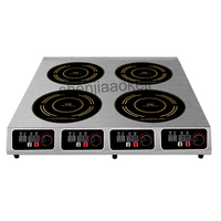Commercial Induction Cooker four head pot furnace Rice Noodles Fennel Mala Tang High Power Clay Pot furnace 220V 1pc