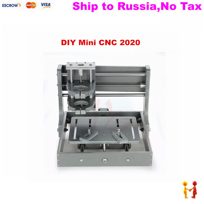 (NO TAX TO Russia) Mini CNC machinery 2020 Pcb Pvc Milling machine frame without motor m22s10 5k 100k multi turn potentiometer printer accessories