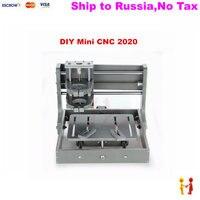 NO TAX TO Russia Mini CNC Machinery 2020 Pcb Pvc Milling Machine Wood Router Frame