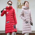 2016 Women Winter Down Cotton Jacket Long Women Coat Thick Female Warm Clothes Parka fur Hairball High Quality Coats