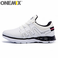 Nouveau onemix Hommes Chaussures de Course Belle Course Athletic Trainers Femmes Blanc Noir Zapatillas Sport Chaussures Coussin de Marche En Plein Air Baskets