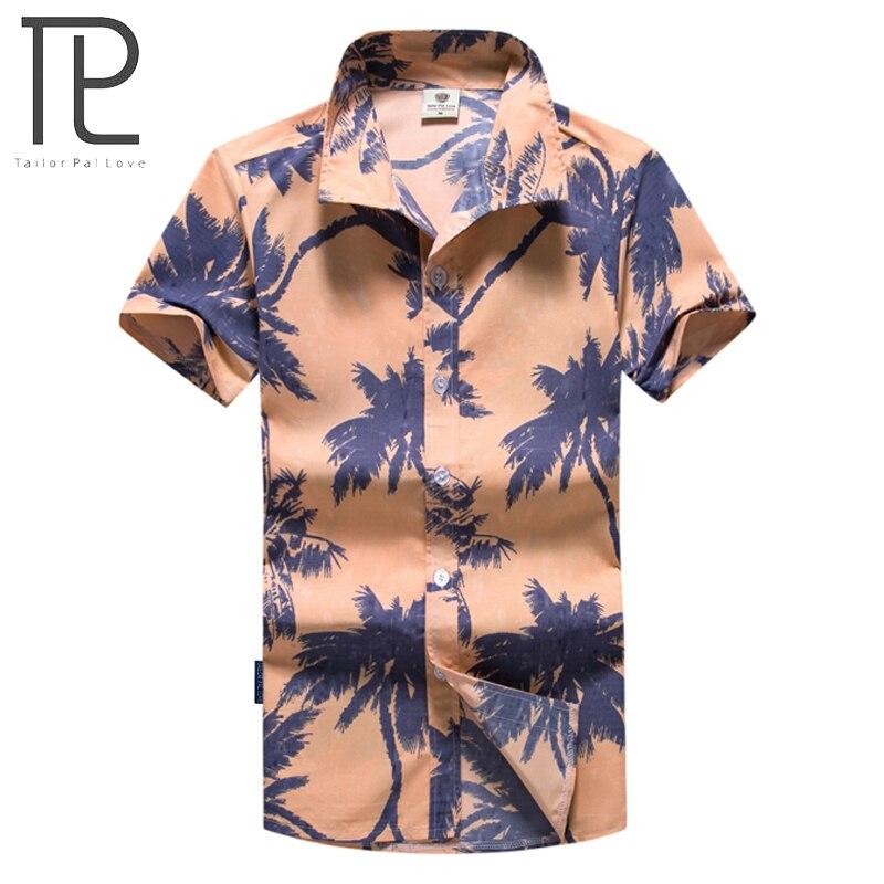 2019 Mode Schneider Pal Liebe Neue Sommer Mode Gedruckt Männer Strand Hemd Kurzarm Hawaiian Shirt Für Männliche M-5xl Ayg297 Angenehm Zu Schmecken Hemden