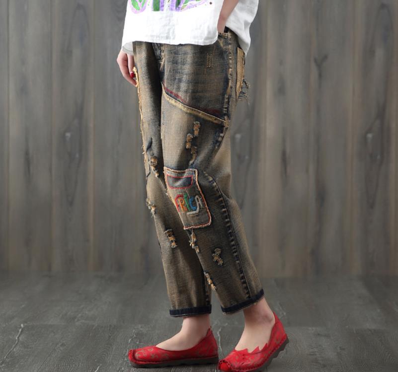 Elástica Nuevo Harem Suelta Multiple Gran Tamaño Cintura Agujero Imprimir Pantalones ZaXwqpTxq