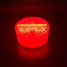 3D светодиодный ночной Светильник светящийся usb-кабель сенсорный датчик батарейный пульт дистанционного управления держатель 3d светодиодный ночник база светящийся