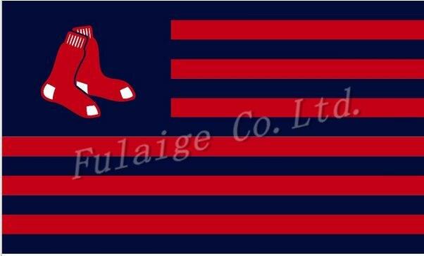 Boston Red Sox flag 3ftx5ft Banner 100D Polyester Flag metal Grommets