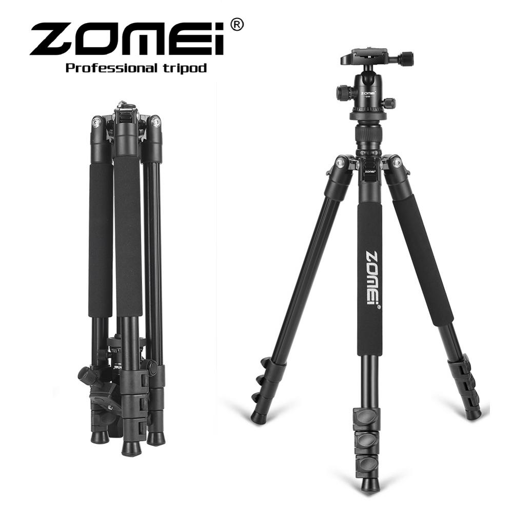 Zomei Q555 Professional Aluminum Flexible Camera Tripod Stand  For DSLR Cameras Portable Tripods 360 Degree Rotating