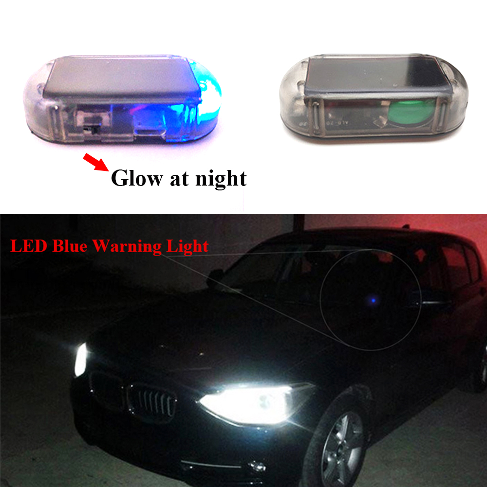US $3 04 39% OFF LED Blue Light Fake Solar Power Car Alarm Lamp Security  System Warning Theft Flash Anti theft Flash Blinking Lights-in Signal Lamp