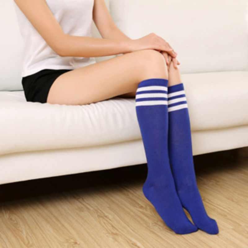 2018 Casual Sexy Oberschenkel Frauen Mädchen Über Knie Socken Oberschenkel Hohe Lange Gestreiften Mode Strumpf Damen Nette Campus Student Stil