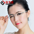 Rimless eyeglasses diamond trimming eye glasses for women beautiful temperament prescription glasses myopia hyperopia 82