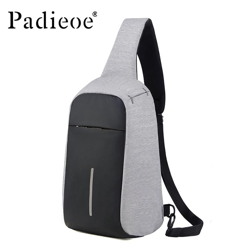 Padieoe fashion brand men bag nylon men shoulder messenger bags business casual male chest