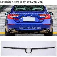 car styling cover Carbon fibre Rear door Tailgate frame plate trim lamp parts 1pcs For Honda Accord Sedan 10th 2018 2019