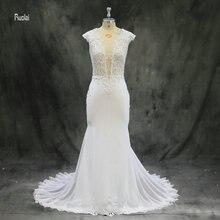 Elegant Wedding Dress 2018 Long Mermaid Lace Wedding Gown vestido de noiva Open Back Bridal Dresses Bridal Gown vestido de festa