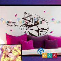 Cherry Blossom Village Pet Girl Vertebral Name True White Wall Stickers Cat Ears Ear Cartoon Cartoon