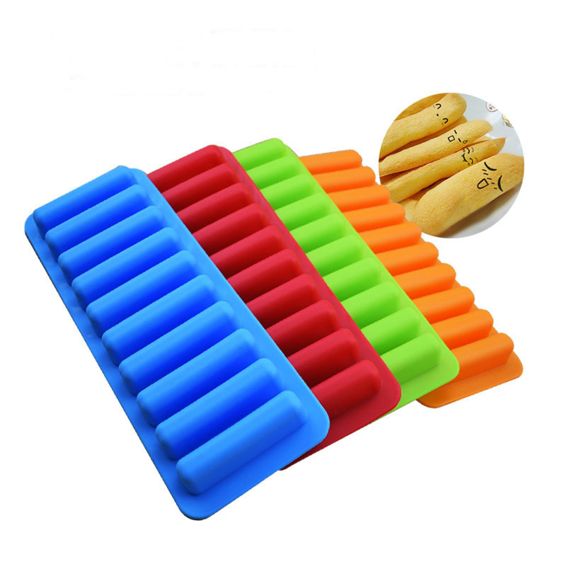 2019 100% Brand New And High Quality Durable Rectangle Bakeware Cookie Candy Pastry Chocolate Finger Bar Silicone Mold