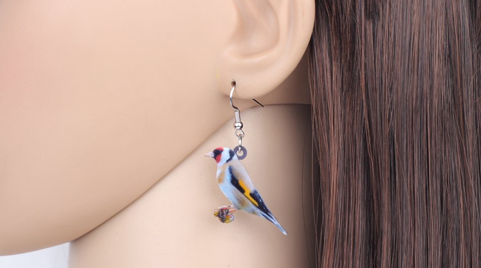 Bonsny Acrylic Flying Voilet Sabrewing Hummingbird Bird Earrings Big Long Dangle Drop Fashion Animal Jewelry For Women Girls Kid 15