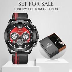 NAVIFORCE mężczyzn zegarek luksusowej marki męskie sportowe wojskowe zegarki kwarcowe męskie skórzane wodoodporne zegar z kalendarzem Relogio Masculino