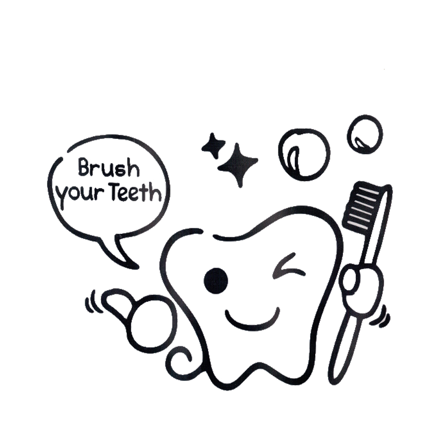 Diy brush your teeth sticker Toilet stickers wall stickers