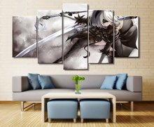 5 Pieces Modern Decorative Canvas Painting Wall Art Game NieR: Automata Home Decoration Living Room Artwork